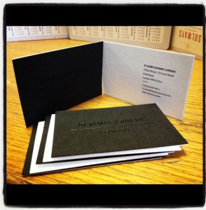 Thick business cards duplexed quality printing London