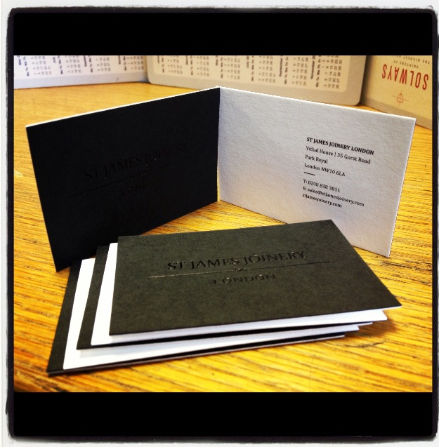 Thick business cards Duplexed 700gsm