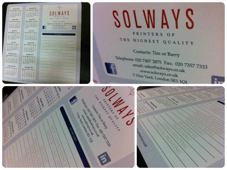 Solways Mouse Pads 2015 Solways Printers Quality Printing London