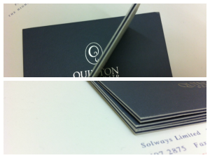 Thick Business Card Solways Printers Quality Printing London