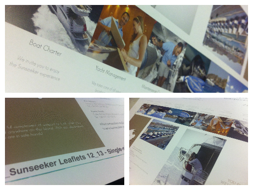 Sunseeker Leaflets | London Boat Show 2014 | Solways Printers Quality Printing London