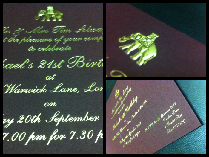 Past Projects   Invitations   Solways Printers Quality Printing London