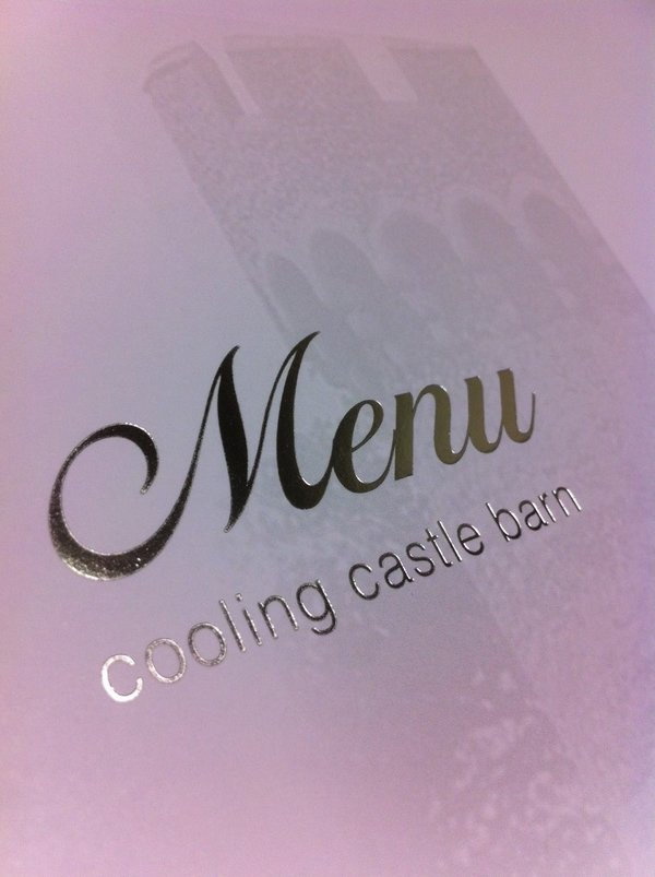 Lithography printed and foiled menu | Solways Printers Quality Printing London