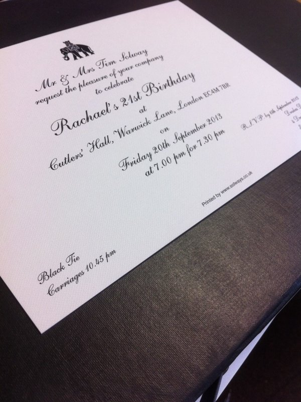 Thermographic Invitation Printing | Solways Printers Quality Printing London