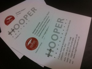 Lithography Printed Hooper Business Cards | Solways Printers Quality printing London