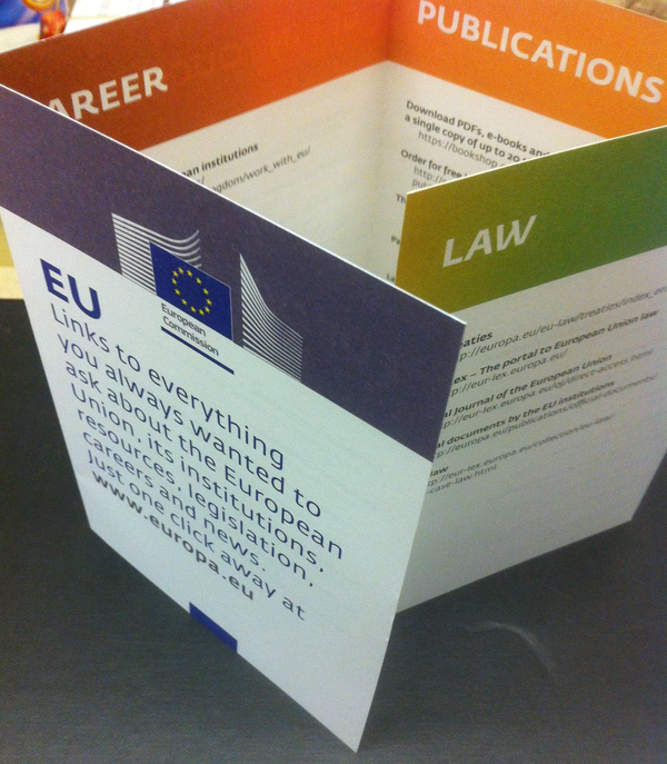 Litho Printed European Commission Brochure | Solways Printers Quality Printing London