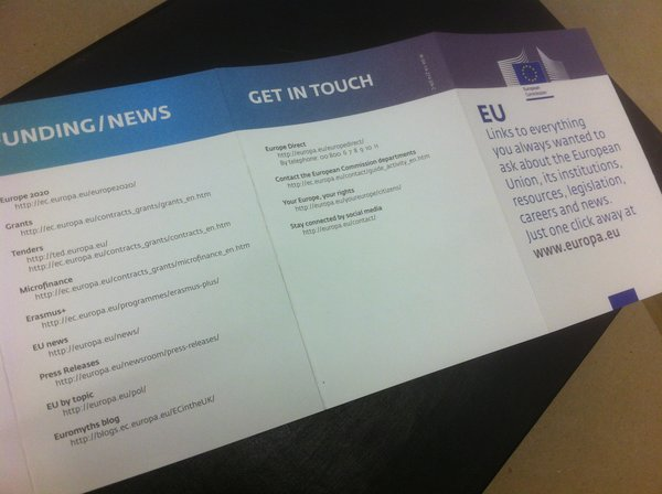 Lithography Printed European Commission Brochure | Solways Printers Quality Printing London