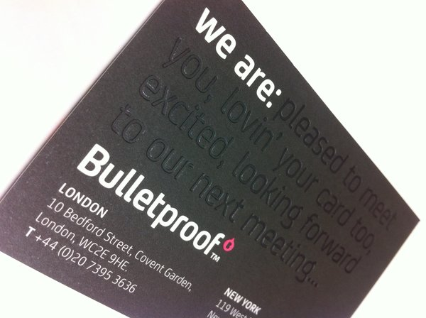 Bulletproof Business Cards | Solways Printers Quality Printing London
