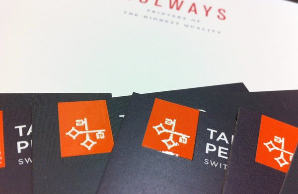 Tailored Pensions Scodix Business Cards | Printed at Solways Printers Quality Printing London
