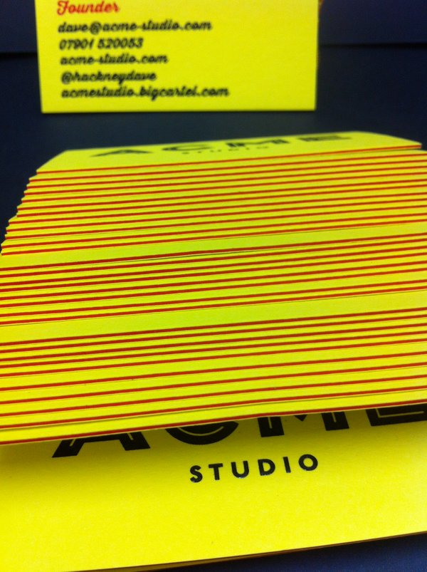 Thick Triplexed Business Card With High Quality Thermography Printing
