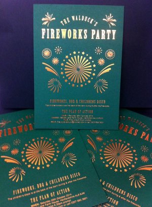 Firework Invitations | Solways Printers Quality Printing London