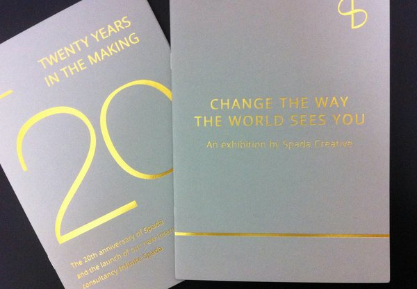 Spada Creative Booklets | Gold Foiling On Colorplan Grey | Solways Printers Quality Printing London