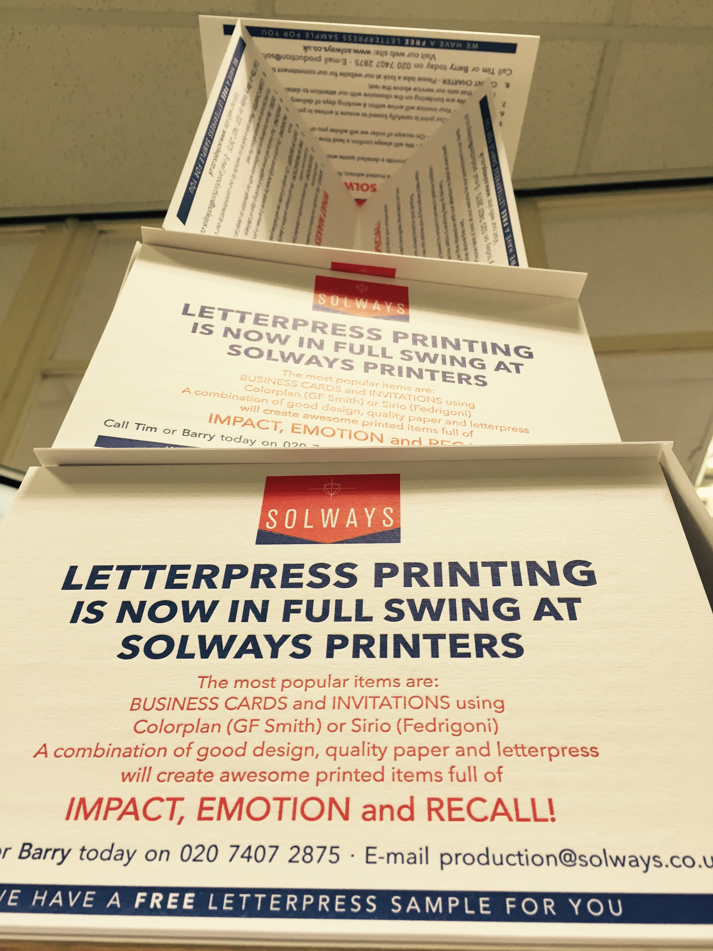 Letterpress Pyramid At Solways Printers Quality Printing London