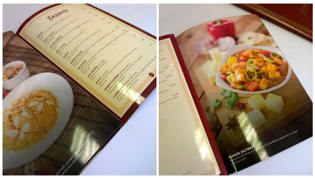Luxury Restaurants menus | Solways Quality Printing London