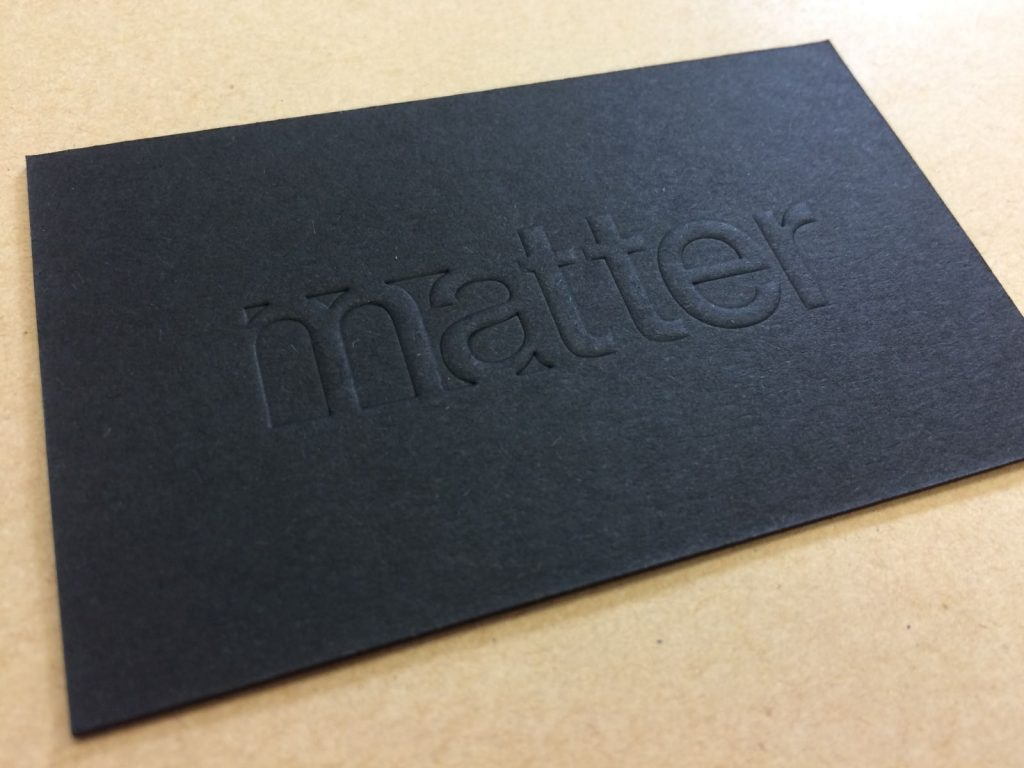 Embossed debossed business cards quality printing london solways having the two processes working together also creates a real talking point for your business cards it is something you do not see very often colourmoves