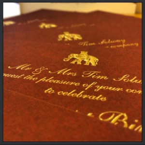 Best luxury THICK invitation by Solways Printers Quality printing London