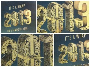 Christmas Card Gold Foil Finish Black Overprint Solways Printers Quality Printing London