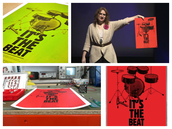 It's the beat. Kate Stones interactive drum poster | Solways Quality Printing London