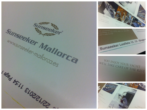 Paper Walks On Water   Solways Prints Sunseeker's Leaflets for London Boat Show 2014