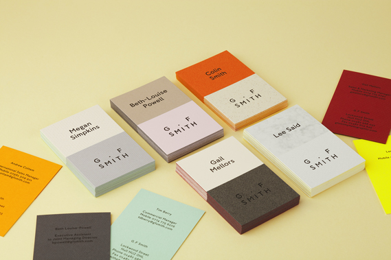Business Cards | GF Smith Re-branding | Solways Printers Quality Printing Londonn