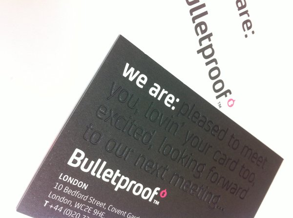 Bulletproof Business Cards | Solways Printers Quality Printing London