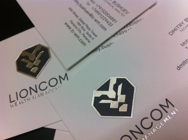 Gloss Silver Foiling Business Cards | Solways Printers Quality Printing London
